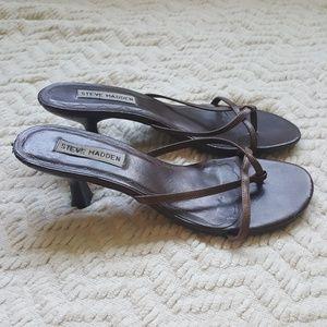 COPY - Steve Madden brown strappy kitten heels eu…